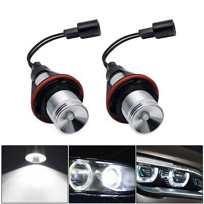 2x White LED Angel Eye Halo Ring Light Bulbs Lamp Fit For BMW E39 E60 E53 X5