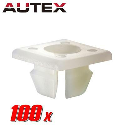 100x Nylon License Plate Clips Rivet Nut Retainer for Pontiac Bonneville Aztek