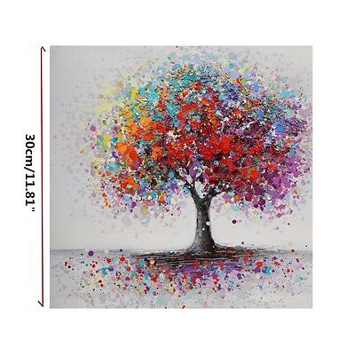 Framed Colorful Tree Abstract Picture Canvas Print Paintings Home Wall Art Decor