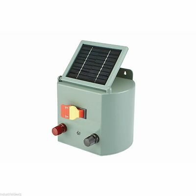 Solar Powered Electric Fence Charger Farm Horses & Cattle Adjustable Control