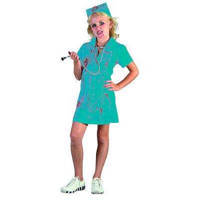Zombie Bloody Mad Nurse Surgeon Doctor Girl's Fancy Dress Halloween - Mad Nurse Halloween Costume
