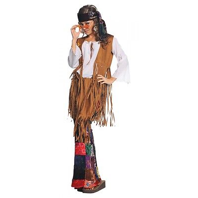 Hippie Costume Adult 60s 70s Halloween Fancy Dress (Hippie Dress Costume)