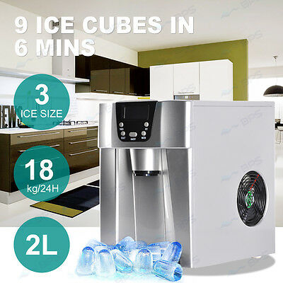 Portable Cube Ice Maker Machine Home Business Automatic Ice Water Dispenser