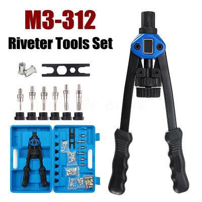 M3-12 Heavy Duty Nut Rivet Riveter Tool Rivnut Nutsert Gun Riveting Kit Thread