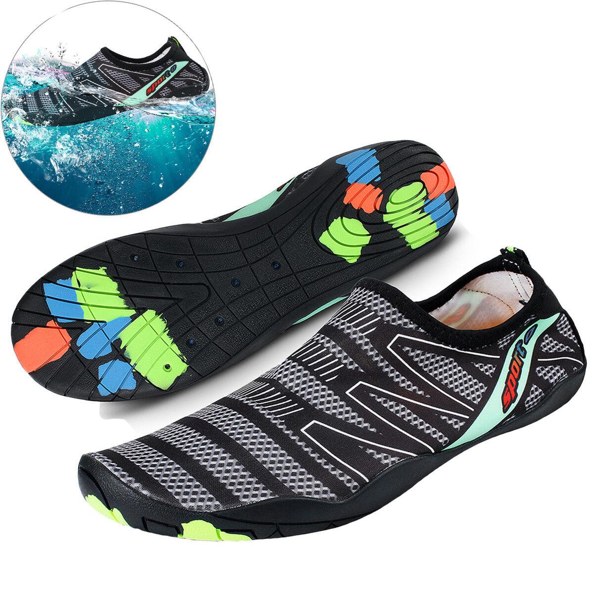 Mens Quick Dry Aqua Water Shoes Barefoot Beach Swim Surf Shoes Walking Running
