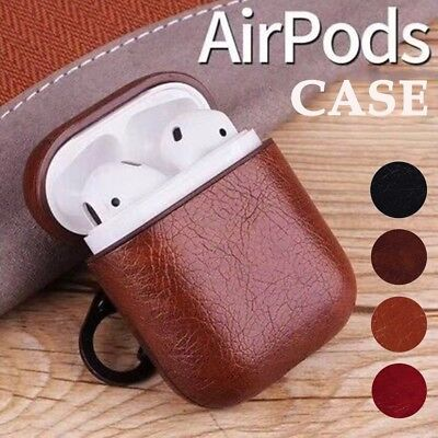 (Full Protective Shell Leather Charging Earphone Case Cover for Apple Airpods)