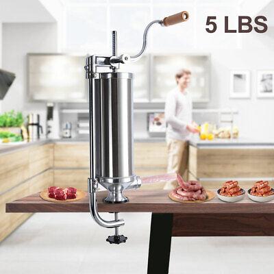 Sausage Vertical Stuffer Maker Meat Filler Stainless Steel Commercial 5l