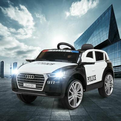 12V Electric Kids Ride On SUV Police Car W/ Remote LED Light Music Black