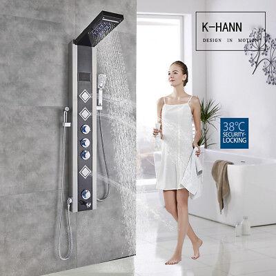 Led Rainfall Shower Panel Stainless Steel Shower Column Massage Jets Tub Shower