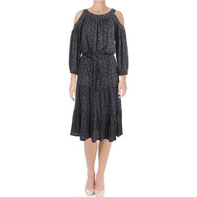 Lauren Ralph Lauren Womens Lamia Blue Modal Blend Casual Dress M BHFO 6350