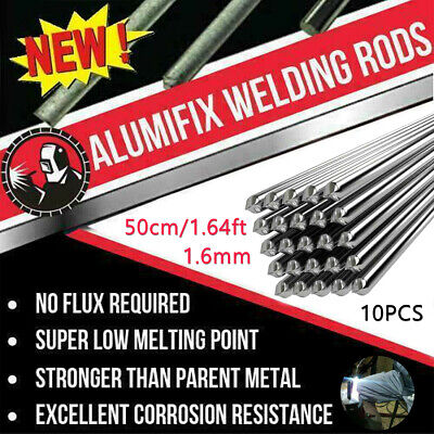 10pcs 50cm1.64ft 1.6mm Solution Welding Flux-cored Rods Aluminum Wire Brazing