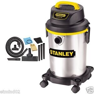 NEW Stanley Wet Dry 4 Gallon Vac Vacuum 2.8 Peak HP Stainless Steel Shop Store