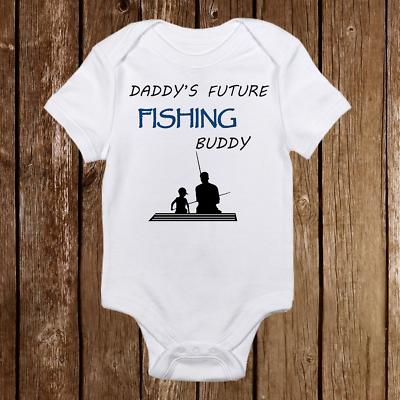 Daddy's Future Fishing Buddy Baby Boy Onesies - Infant Newbo