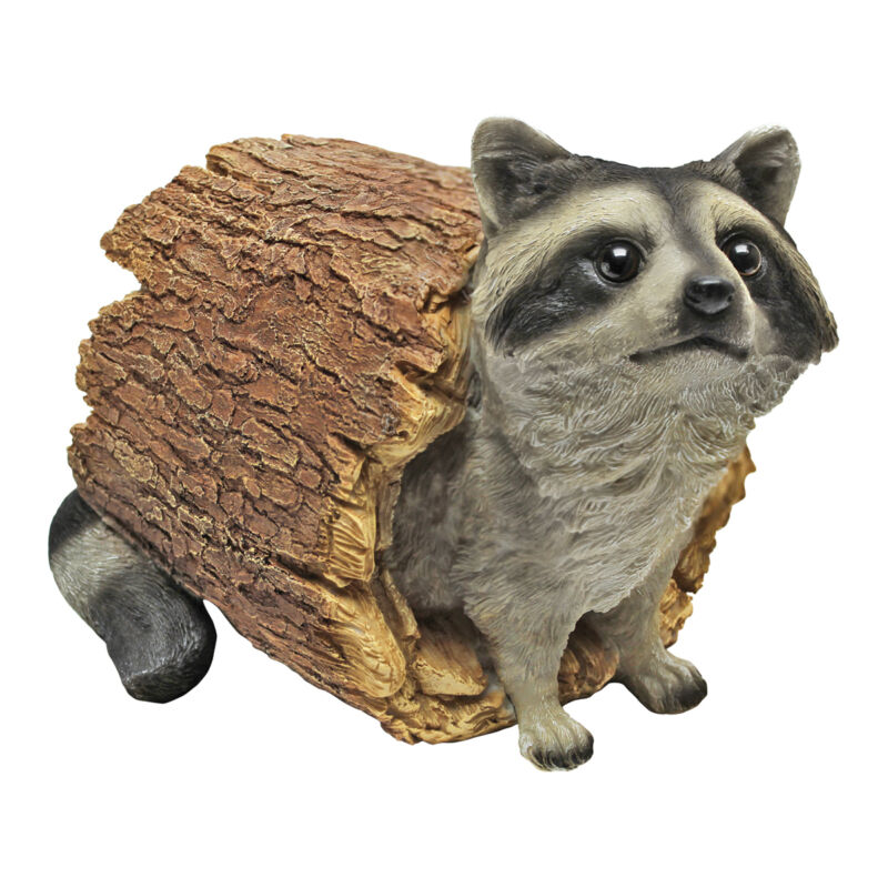 Realistic Woodland Raccoon Garden Outdoor Statue