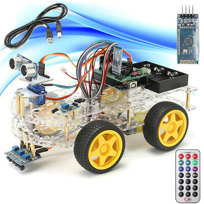 4wd Smart Car Robot Learning Starter Kit - Programmable Robot Diy For Arduino