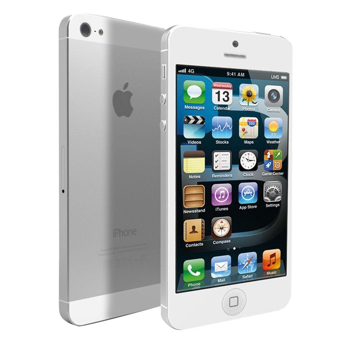 USED APPLE IPHONE 5 16GB / 32GB / 64GB - UNLOCKED / EE / O2 / VODA SMARTPHONE MOBILE