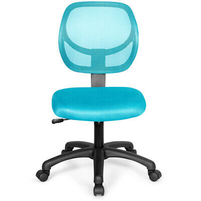 Mesh Low-back Office Chair Ergonomic Computer Desk Chair Armless Adjustable Blue