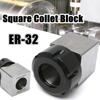 Er 32 Square Spring Collet Chuck Block For Cnc Lathe Engraving Machine 3900-5124