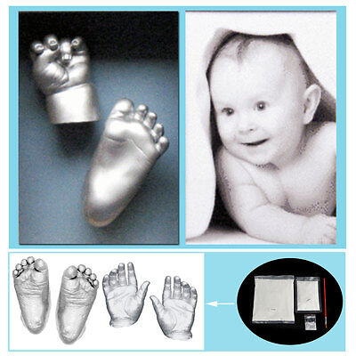 3D Plaster Handprint Footprint Baby Hand&Foot Mould Casting Prints Kit Powder