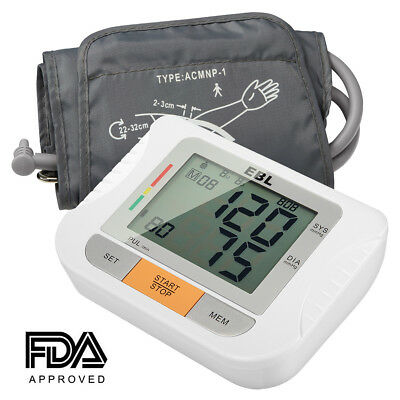 Digital LCD Arm Cuff Blood Pressure Monitor Heart Rate Beat Pulse Meter Measure