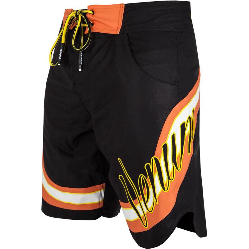 Venum Cutback Lightweight Drawstring Closure MMA Boardshorts - Black/Yellow