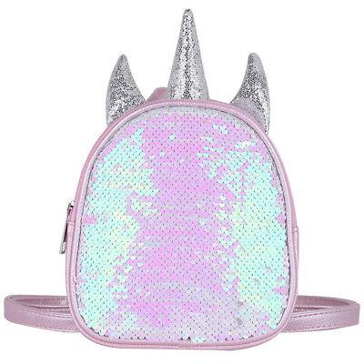 Unicorn Backpack for Girls Kids Shiny Sequin Shoulder Bag Mi