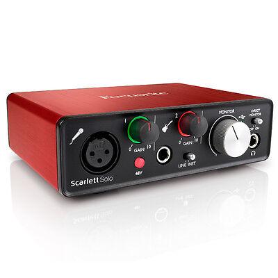 Focusrite Scarlett Solo 2Nd Gen Recording Studio Interface   Pro Tools First