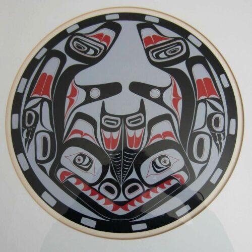 Vintage Haida Northwest Native Indian Lithograph Print Design Sea Monster