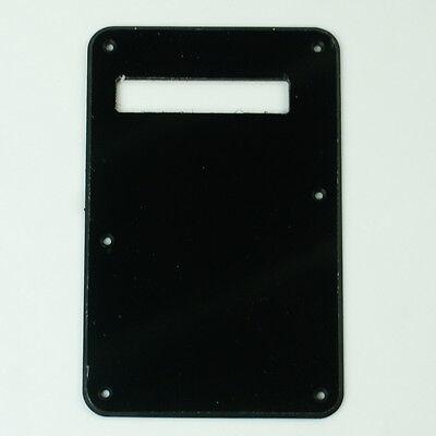 Standard Strat Style Guitar Cavity Cover Tremolo Back Plate ,Single-ply Black