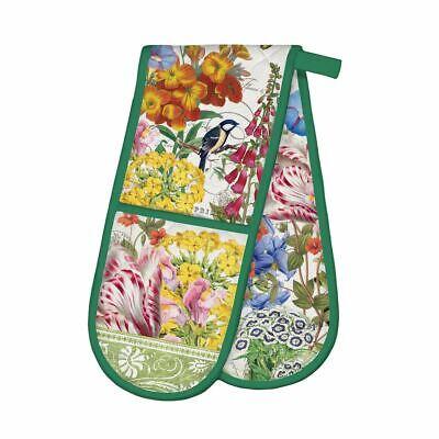 Michel Design Works Cotton Kitchen Double Oven Glove Summer Days Floral Bird -