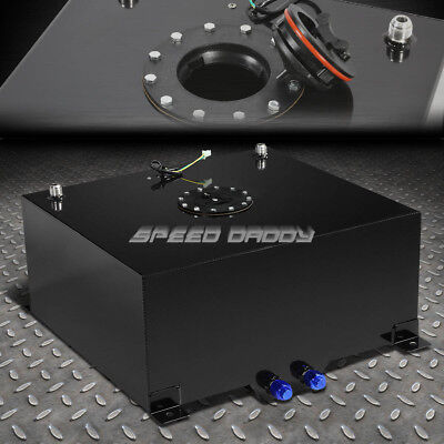 15 GALLON BLACK COATED ALUMINUM RACINGDRIFTING FUEL CELL GAS TANKLEVEL SENDER
