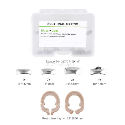 Azdent Dental Sectional Contoured Metal Bands Matrices Matrix Ring Refill