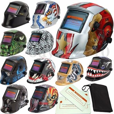 3 Lens 1 Bag Solar Auto Darkening Welding Helmet Tig Weld Lens Grinding Mask