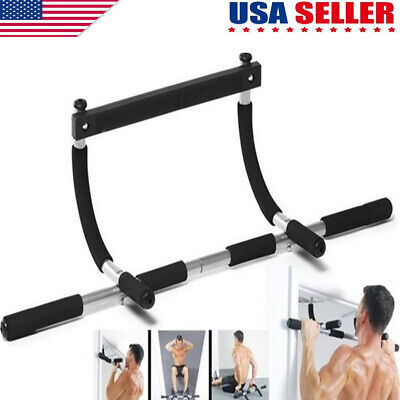 Pull Up Bar Chin-Up Exercise Heavy Duty Doorway Fitness Home Gym Upper Body Work