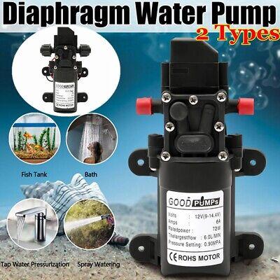6lmin 130psi 6lmin Water High Pressure Diaphragm Self Priming Pump Dc12v 70w