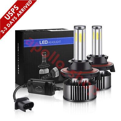 6-Sides H13 9008 LED Headlight Kit Fog Light Bulbs High Low Beam Super Bright FF