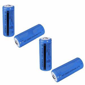 4x Elfeland Batterie Akku ET 26650 5000mAh 3,7V Li-Ion Wiederaufladbar Battery