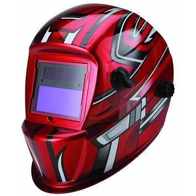 Auto Darkening Welding Helmet With Racing Stripe Design Chicago Electric Hood