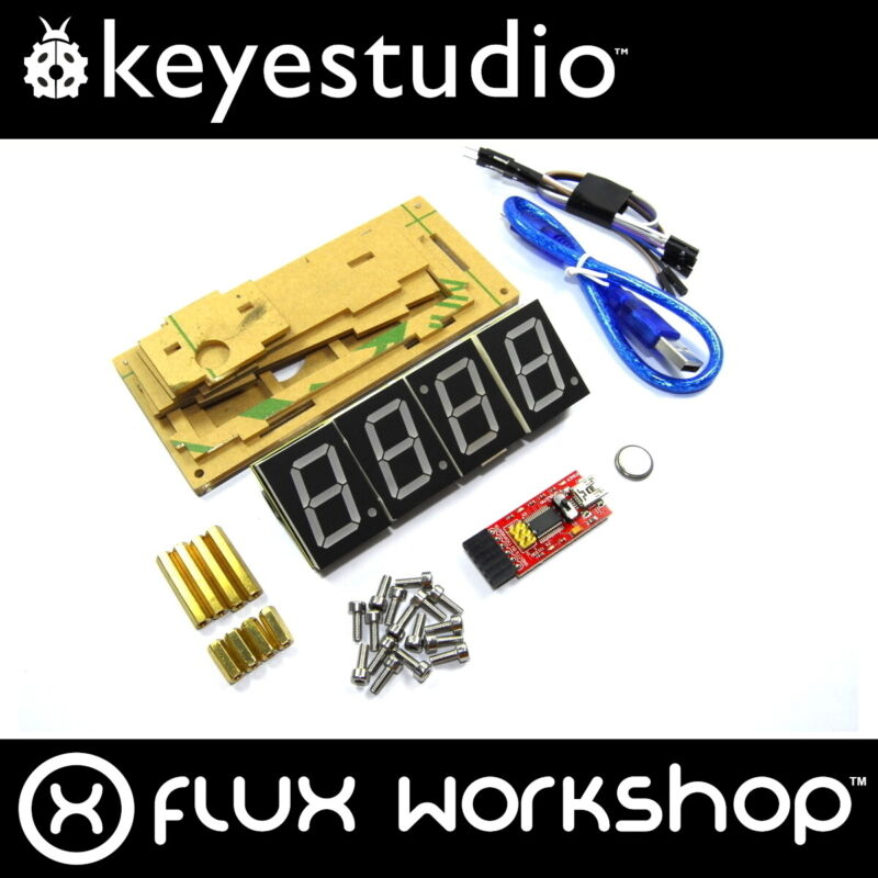 Keyestudio Smart Horloge Kit KS0201 DIY Température Rouge Acrylique Arduino