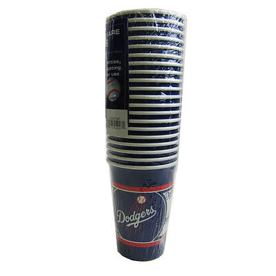 New MLB Los Angeles Dodgers 20 Disposable 16oz Paper Cups Party-Ware Supplies](Party Supplies Los Angeles)