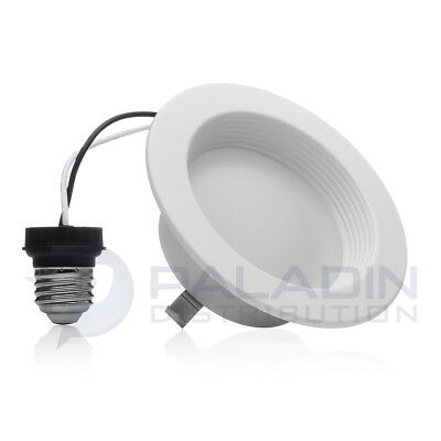 "Topaz 4"" LED Retrofit Baffle Trim Downlight - 3000K 10W Dimmable UL Damp Rated"