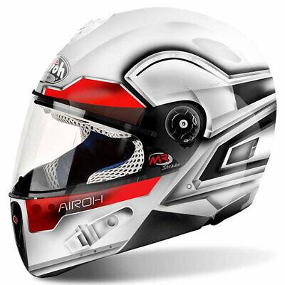 Airoh Mr Strada Lunar Kids Motorcycle Bike Full Face Helmet Gloss White