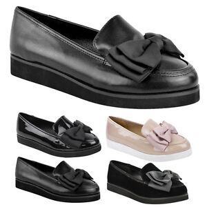 LADIES-WOMENS-GIRLS-FLAT-DOLLY-BALLET-BALLERINA-CREEPERS-WORK-SCHOOL-SHOES-SIZE