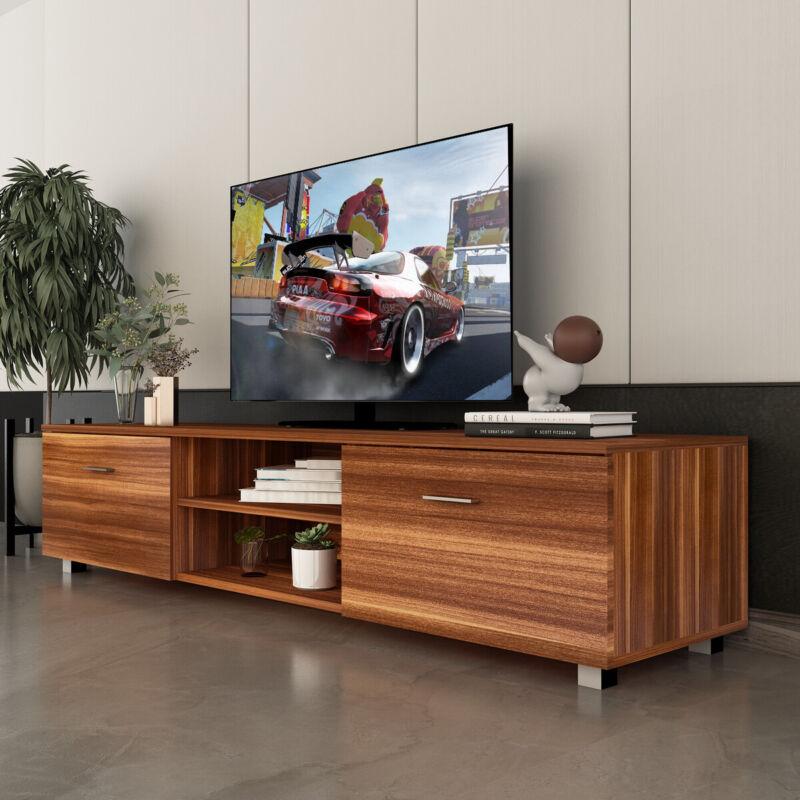 "70"" TV Stand Console Unit Cabinet Entertainment Storage Shelves Table Furniture"