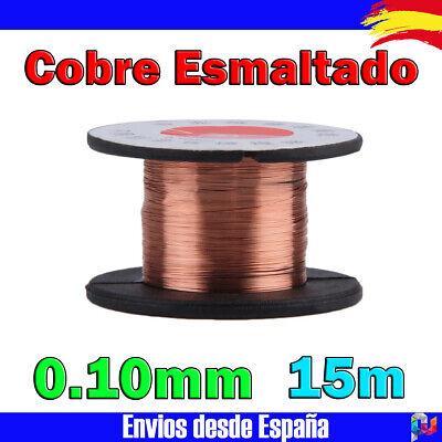 Bobina de hilo de cobre esmaltado Carrete de 0.10mm x 15m Soldadura...