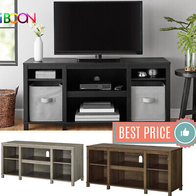 TV STAND Media Center CONSOLE 50 Entertainment Storage Home Theater Wood Cabinet