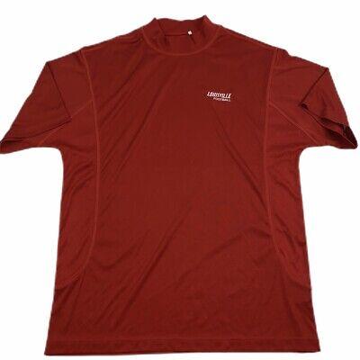 ADIDAS Men's Large Mock Neck Golf Shirt Climacool Louisville Cardinals -