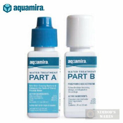 AQUAMIRA Water Treatment DROPS 2 oz GERMICIDE SURVIVAL 60 gal. 67203 FAST SHIP