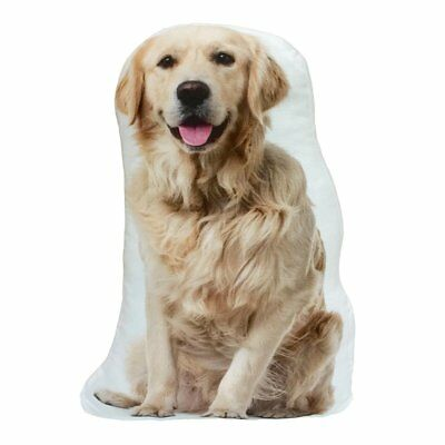 Golden Retriever Dog Shaped Photo Decorative Accent Throw Pillow Gift