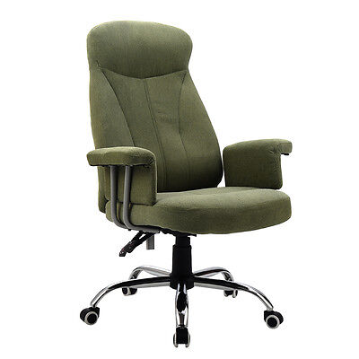 High Back Reclining Office Chair Padded Executive Computer Desk Task Recliner